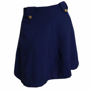Naughty Nautical Deep Blue Micro Mini Skirt circa 1970s