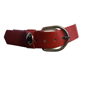 Oxblood Red Heavy Vinyl Belt w/ Large Buckle circa 1980s