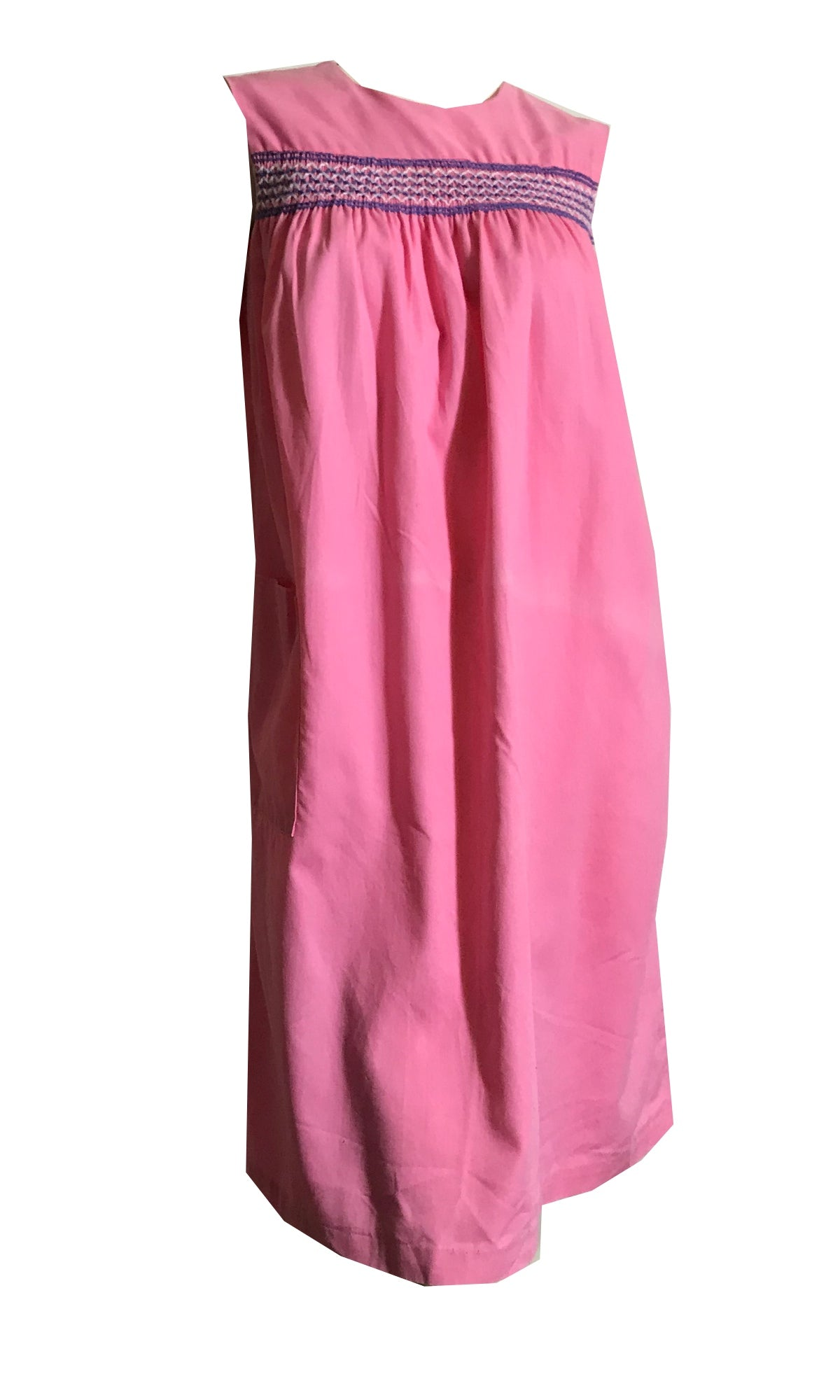 Pretty Pink Cotton Shift Dress circa 1960s