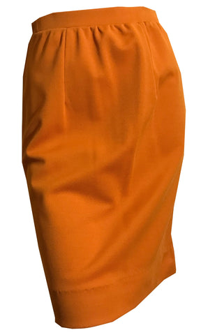 Pumpkin Spice Poly Knit Mini Skirt circa 1960s