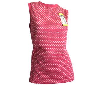 Pink Polka Dot Sleeveless Shirt circa 1970s