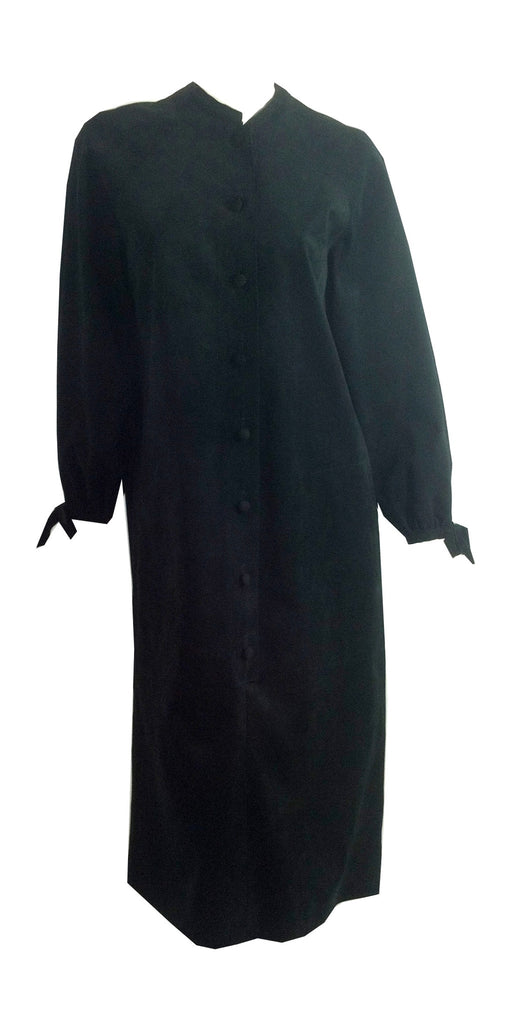 Stylish Black Ultrasuede Wedge Dress circa 1980s Count Romi