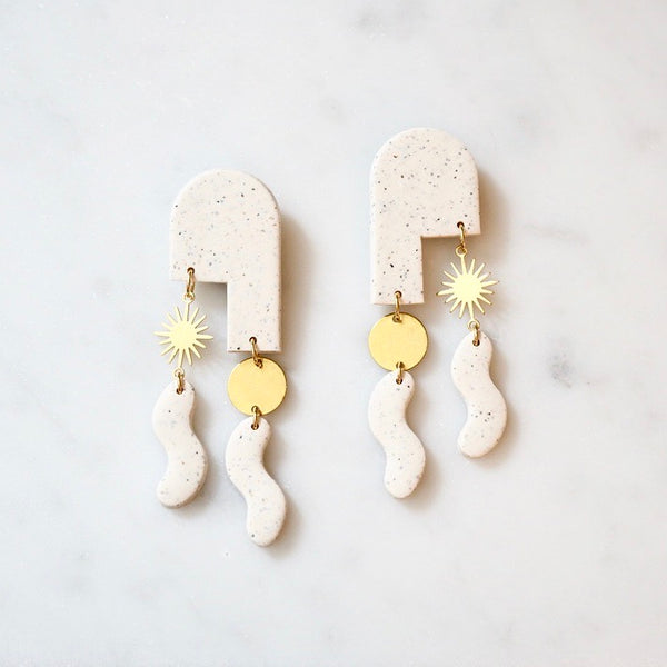 Gigi Polymer Clay & Brass Earrings