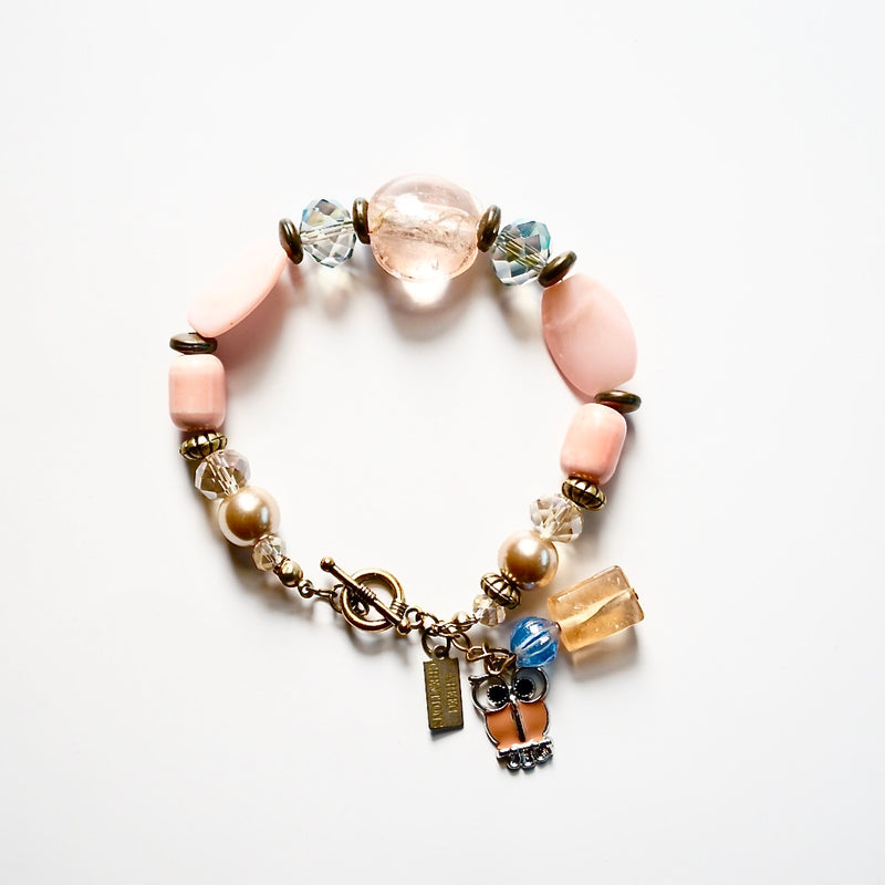 Ceramic Glass Bead Bracelet