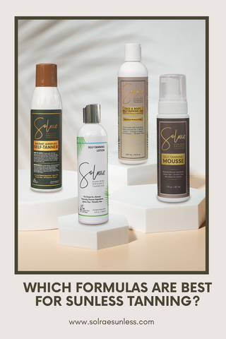 Which Formulas are Best for Sunless Tanning