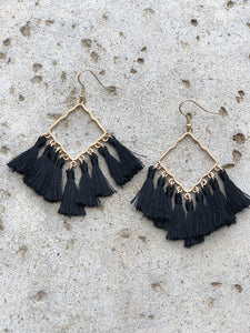 Diamond Tassel Earrings