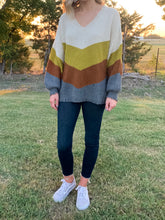 Load image into Gallery viewer, Distressed Colorblock Sweater