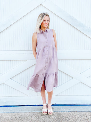 Lavender Midi Dress