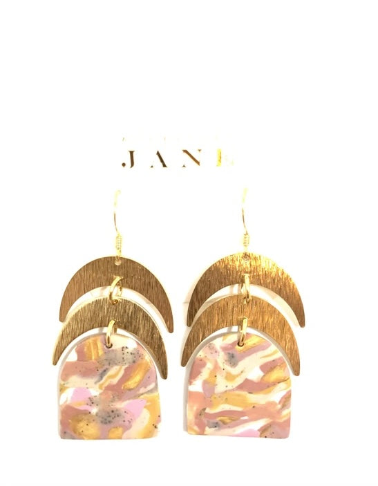 Twin moons earrings