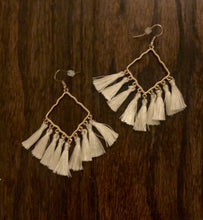 Load image into Gallery viewer, Diamond Tassel Earrings