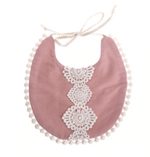 Load image into Gallery viewer, Rose Lace Baby Bib