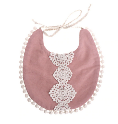 Rose Lace Baby Bib