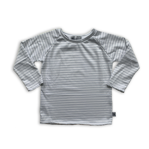 Handcrafted Raglan in Icy Neutral Stripe