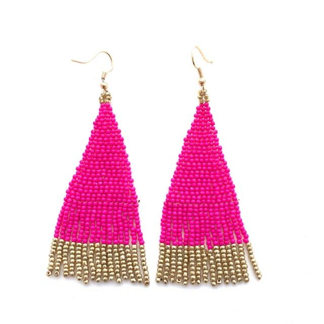 Alex Earrings in Hot Pink