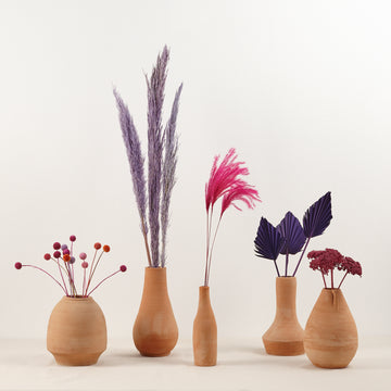 hot pink and purple dried florist collection