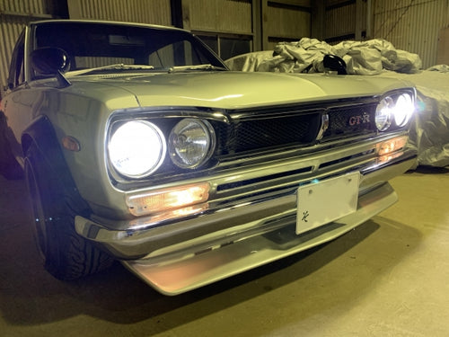 Hakosuka H4 LED Headlights (Set of Two) - M Speed