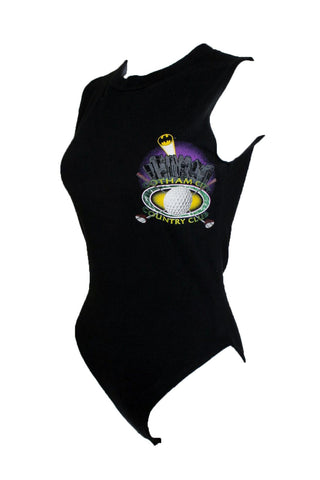 Reworked Vintage Gotham City Bodysuit