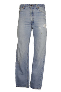 Vintage Distressed Light Wash Levi 505 Jeans