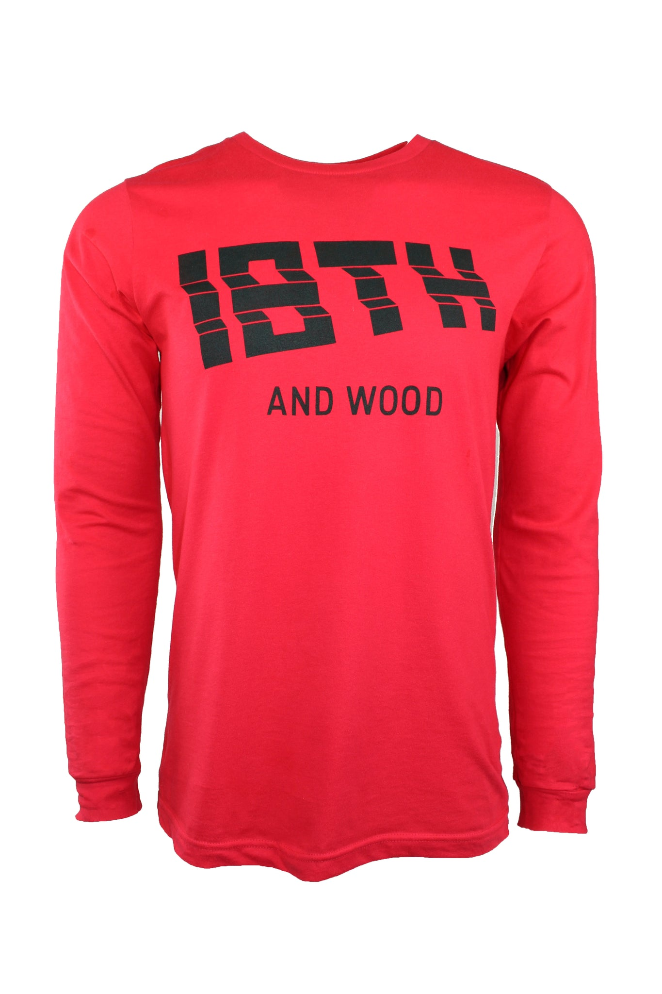 18th & Wood Red Logo Tee