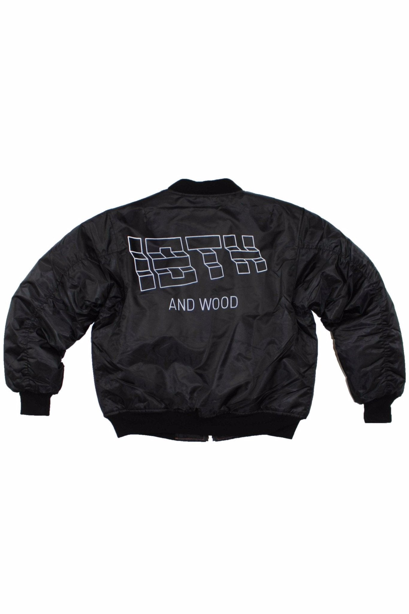 18th & Wood Logo Bomber
