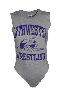 Reworked Vintage Northwestern University Wrestling Bodysuit