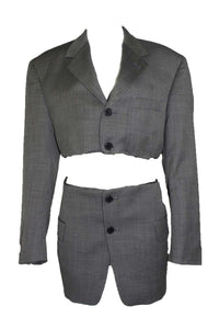 Reworked Vintage Pierre Cardin Blazer Two Piece Set