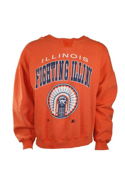 Vintage Orange U of I Fighting Ilini Starter Crewneck