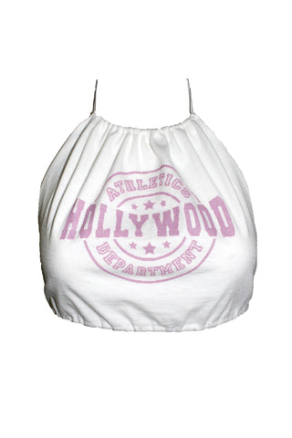 Reworked Pink Hollywood Halter Top