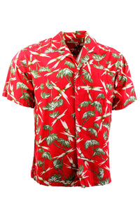 Vintage Red Hawaiian Shirt