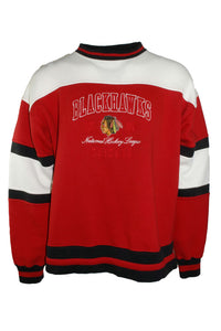 Vintage Pro Player Chicago Blackhawks Red Crewneck