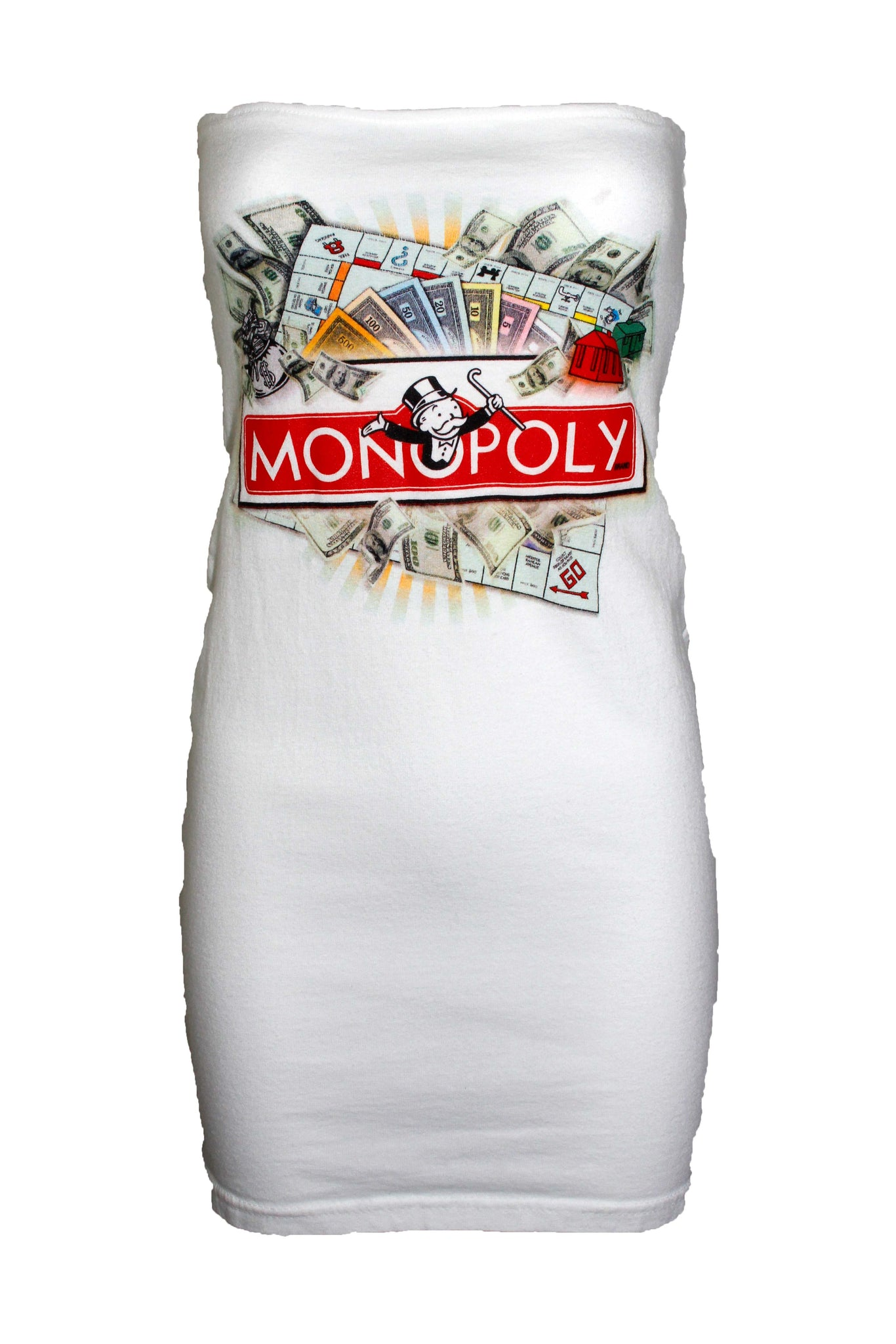 Reworked Vintage Monopoly Tube Dress