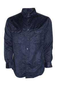 Vintage Blue Suede Button Down