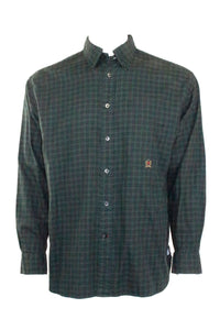 Vintage Tommy Hilfiger Green Plaid Button Up