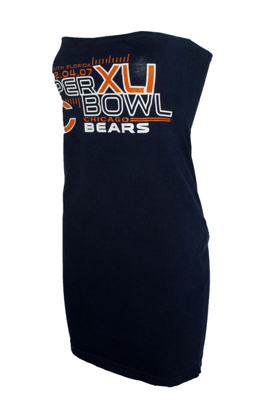 Reworked Chicago Bears Super Bowl XLI Tube Dress