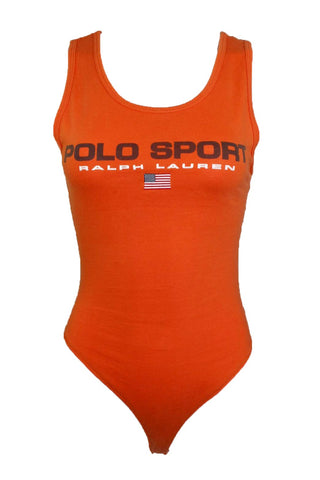 Reworked Vintage Orange Polo Sport Bodysuit