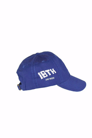 18th & Wood Blue Logo Cap