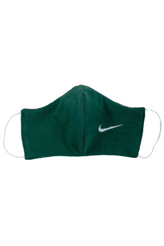 Reworked Vintage Green Nike Face Mask
