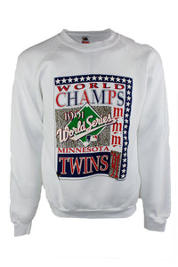 Vintage Minnesota Twins 1991 MLB World Champs Crewneck