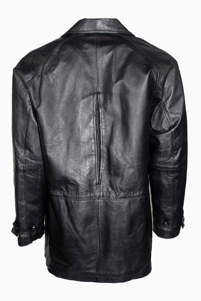 Vintage Phase Two Longline Leather Jacket