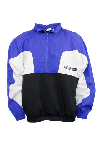 Vintage Black and Blue Reebok Windbreaker