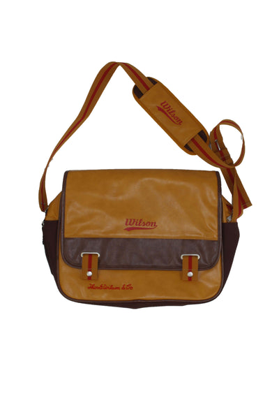 Vintage Brown Leather Wilson Bag