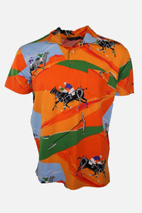 Vintage Ralph Lauren All Over Print Jockey Polo Shirt