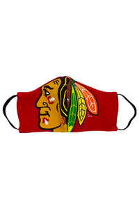 Reworked Vintage Chicago Blackhawks Face Mask