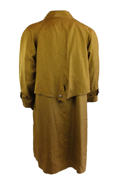 Vintage Long Line Golden Trench Coat