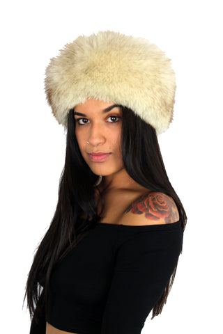 Vintage White Fox Fur Hat