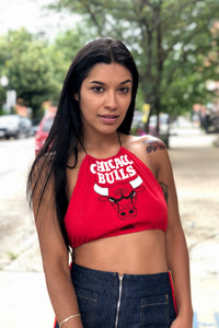 Reworked Vintage Bulls Crop Top