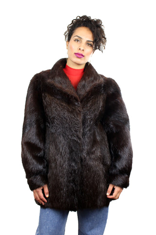 Vintage Polish Fur Coat