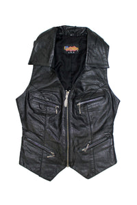 Vintage Deadstock NWT Easyriders Leather Zip Up Vest