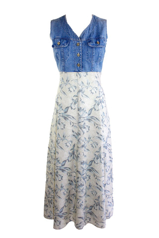 Vintage Denim and Floral Dress