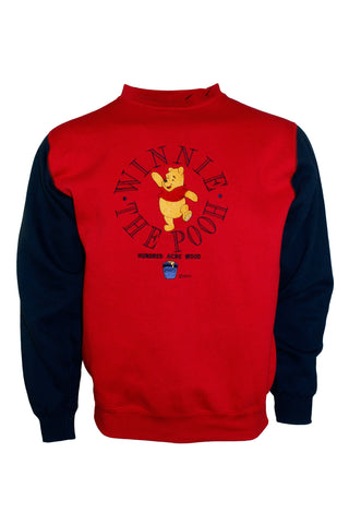 Vintage Red and Navy Winnie The Pooh Crewneck